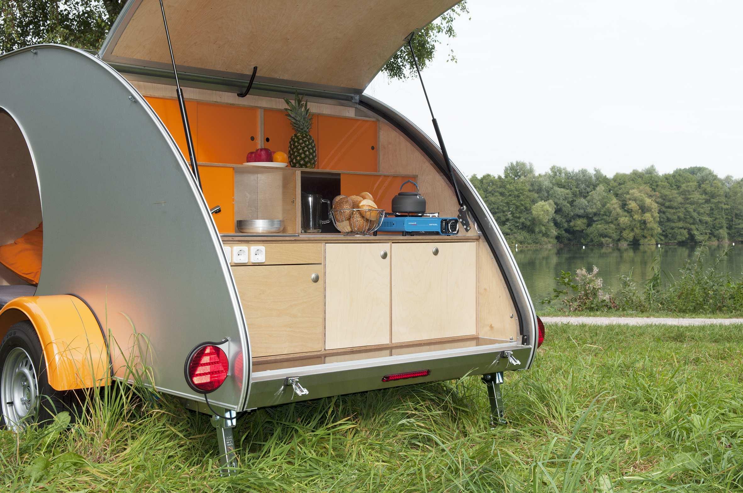 Wohnwagen Mit Außenküche : Teardrop caravan stylischer retro wohnwagen camper journal