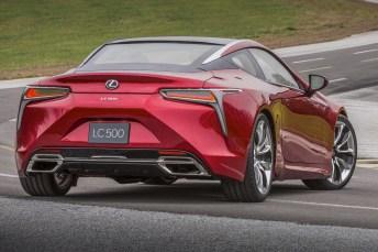 Bei beiden LC-Varianten wird die Kraft an die Hinterräder geleitet. © Lexus