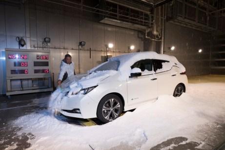 Auch den simulierten Wintertest hat der Leaf bestanden. © Nissan