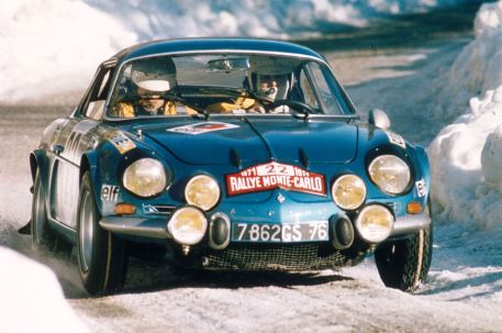 Die Alpine A110 1600 S bei der Rallye Monte Carlo 1971. Foto: Auto-Medienportal.Net/Alpine