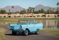 Bei Sotheby's versteigert: Amphicar aus dem Jahr 1966 für 73 700 Dollar (62 650 Euro). Foto: Auto-Medienportal.Net/Sotheby's/Patrick Ernzen