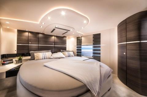 Kuscheliges Schlafzimmer in der Concorde.