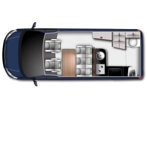 Basis der neuen Variante ist der Ford Transit Custom Kombi 340 L2, der mit 367 mm zusätzlichem Radstand mehr Platz für zusätzliche Ausstattung bietet. Ein neu gestaltetes Hochdach rundet den optischen Auftritt harmonisch ab.
