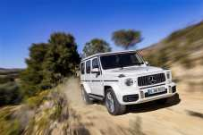 Mercedes-AMG G 63: Der 4,0-Liter-V8-Biturbo-Motor schickt über die Neun-Gang-Automatik bis zu 430 kW / 585 PS an den heckbetonten Allradantrieb (40:60) mit drei Differenzialsperren. Kraftstoffverbrauch kombiniert: 13,2 l/100km; CO2-Emissionen kombiniert: 299 g/km. Foto: Auto-Medienportal.Net/Daimler