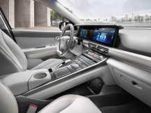 """Dank der im Hyundai Nexo verwendeten """"Shift-by-Wire-Technik"""" konnte eine optisch frei schwebende Mittelkonsole integriert werden. Foto: Auto-Medienportal.Net/Hyundai"""