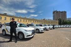In der Ukraine unterstützt der Mitsubishi Plug-in-Hybrid Outlander die Polizei bei der Verbrecherjagd. © Mitsubishi