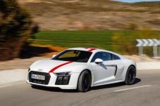 Die Rennstrecken-Folierung gibt es beim R8 RWS gegen Aufpreis. © Audi