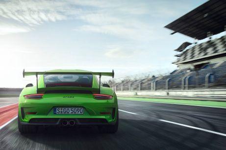 Volle Kraft voraus: Bei Porsche debütiert der 911 GT3 RS. © Porsche