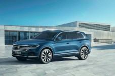 Eleganter, größer und intelligenter: Der neue Touareg wurde in Peking feierlich enthüllt. © VW