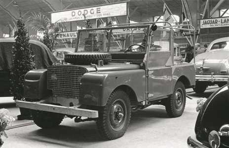 Der erste Land Rover auf der Amsterdam Motor Show 1948. Foto: Auto-Medienportal.Net/Land Rover