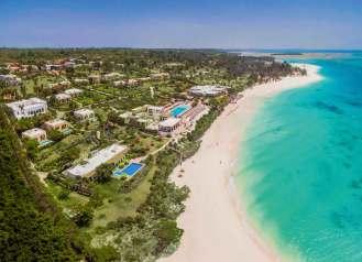 Das Riu Palace Zanzibar, ein Luxushotel mit 102 Zimmern und Suiten, liegt im Norden der Insel vor der Küste Ostafrikas. Foto: TUI