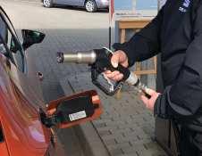 Problemloses tanken an der Erdgas-Zapfsäule. Foto: Klaus H. Frank