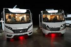 Die Verwandtschaft ist deutlich: Der Pulse (l.) und der Globebus tragen das typische Dethleffs-Markengesicht. © Rudolf Huber / mid