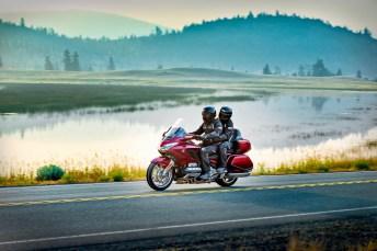 Eine wahre Legende unter den Motorrädern ist die Honda Gold Wing. 2018 steht sie als GL 1800 für ungetrübten Fahrspaß auf endlos langen Touren. © Gerhard Rudolph