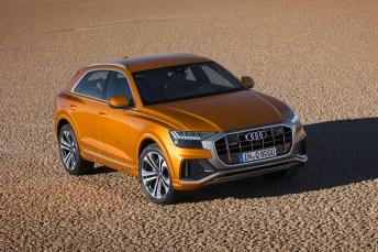Dank variierbarer Bodenfreiheit ist der Q8 auch im leichteren Gelände zuhause. © Audi