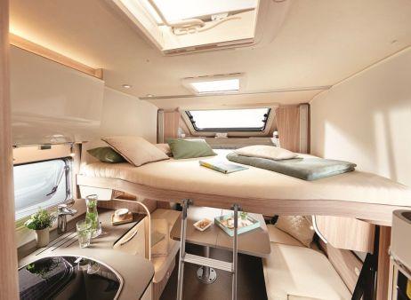 Mit einem optionalen Hubbett können sich die Kunden ihr Wohnmobil individuell passend zu ihrem Bedarf konfigurieren. Foto: Auto-Medienportal.Net/Bürstner