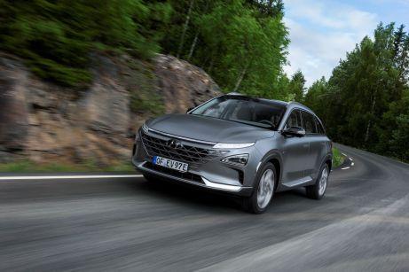 Als Nachfolger des ix35 stellen die Südkoreaner jetzt mit dem Mittelklasse-SUV Nexo ihr zweites Serienmodell mit Brennstoffzellenantrieb vor. Alle Fotos: Auto-Medienportal.Net/Hyundai