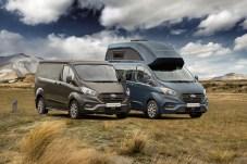 Auf dem Caravan Salon zeigt Ford die überarbeiteten Nugget-Versionen, die wie gehabt zusammen mit Westfalia entwickelt werden. © Ford