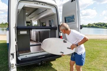 In die Entwicklung floss das große Erfahrungspotenzial ein, das in drei Jahrzehnten mit dem Bulli als Camper gesammelt wurde. Foto: Volkswagen