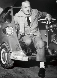 Auch Curd Jürgens machte Werbung für die BMW Isetta (1955). Foto: Auto-Medienportal.Net/BMW