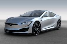 Knackige Coupé-Limousine im Stil von US-Musclecars: So stellt sich Designer Emre Husmen das nächste Model S von Tesla vor. © Elektroautomobil / Emre Husmen
