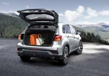 Der Kofferraum schluckt 419 Liter, bei umgeklappten Rücksitzlehnen sind es 1219 Liter. Foto: Mitsubishi