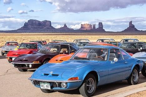 Opel GT (1968–1973) im Jubiläumsjahr 2018 auf Roadtrip in den USA. Foto: Auto-Medienportal.Net/Opel