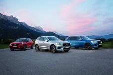 Im Modelljahr 2019 erhalten die drei SUV von Volvo neue Motoren und neuen Sound. © Volvo