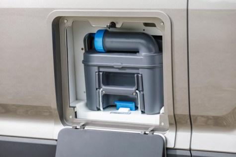 Die Casetten-Toilette. Foto: Volkswagen
