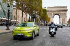 587 Kilometer vom Ausstellungsgelände an der Porte de Versailles in Paris bis nach Frankfurt - rein elektrisch. Foto: Auto-Medienportal.Net/Hyundai