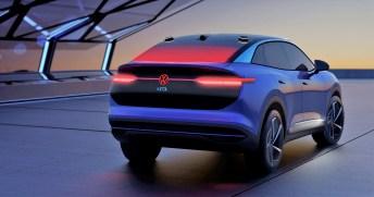 Die Volkswagen Studie ID. CROZZ: Durch das Licht werden Fahrzeuge zu emotionalen Designobjekten. Foto: VW