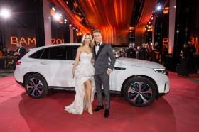 Nico Rosberg mit Frau Vivian Rosberg beim BAMBI 2018 im Theater am Potsdamer Platz in Berlin. Foto: BrauerPhotos / M.Nass fuer Mercedes