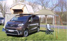 Bestens gerüstet für den Wochenendausflug in die Natur: Mit der QUQUQ Campingbox lässt sich der Toyota Proace Verso in einen Camper verwandeln, Foto: Toyota