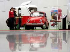 Klein, aber fein: FIAT 500 und Caravan aus dem Hymer-Museum
