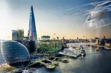 Auf diesem Bild präsentiert sich die heute noch von Schadstoffen stark belastete City von London als sauberere und gesündere Metropole. © Jaguar Land Rover