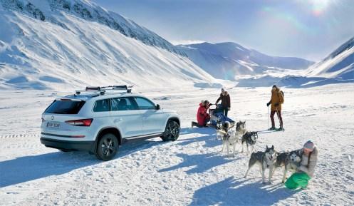Ein zuverlässiger Begleiter auch auf Eis und Schnee. Der Skoda Kodiaq. Foto: Skoda