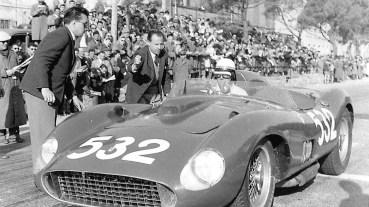 Der legendäre Rennfahrer Wolfgang Graf Berge von Trips fuhr den Ferrari 335 S Scaglietti 1957 bei der Mille Miglia auf Platz 2. Foto: Wikipedia