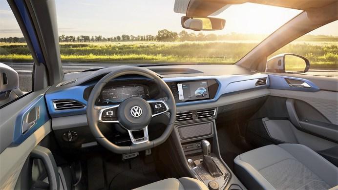 Neue Wege geht Volkswagen im Segment der Pickups auch beim Interieur: Es ist weitgehend digital ausgeführt. Foto: Volkswagen