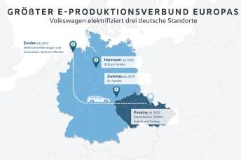 Für die Elektromobilität baut Volkswagen seine Werke kräftig um. © VW