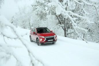 Auch bei Eis und Schnee eine sichere Sache: der Mitsubishi Eclipse Cross. © Mitsubishi