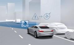 Automatische Vollbremsung auch für Radfahrer. Foto: Auto-Medienportal.Net/Bosch