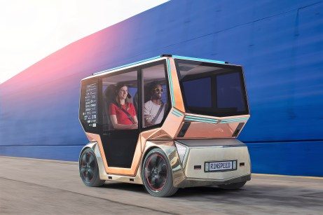 Der Rinspeed Micro Snap als Fahrzeug zur Personenbeförderung. Foto: Auto-Medienportal.Net/Rinspeed
