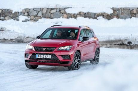 Das Sport-SUV ließ sich selbst bei deaktiviertem Stabilitätsprogramm und im Cupra-Fahrmodus sicher um die Kurven pilotieren. Foto: Auto-Medienportal.Net/Cupra