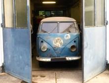 Nach 54 Jahren entdeckt: der erste VW T1 Radarmesswagen, der zu Schulungszwecken der Polizei in Niedersachsen im Einsatz war. Foto: Auto-Medienportal.Net/Volkswagen