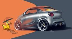 Mit dickem Entenbürzel: die bedachte Version des Forease namens Forease+. © Daimler