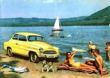 Nostalgisches Bild: Der Skoda Octavia aus den Jahren 1959 bis 1964. Foto: Auto-Medienportal.Net/Skoda