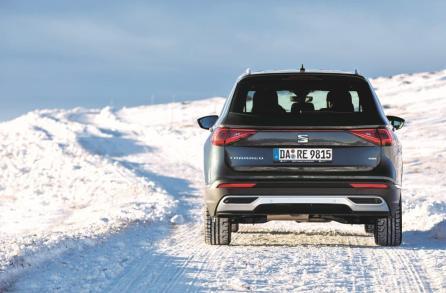 """Da oben auf dem Rittner Horn pflügen wir im """"Snow-Modus"""" durch den Schnee, als wär's ganz selbstverständlich. © Seat"""
