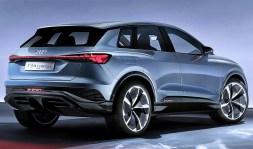 Im Audi Q4 e-tron concept ist die Performance-Version des E-Antriebs zu finden. Je ein E-Motor treibt die Vorder- und Hinterachse an – der Q4 ist ein Quattro. Foto: Auto-Medienportal.Net/Audi