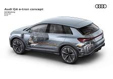Den Allradler treiben zwei Elektromotoren mit zusammen 306 PS (225 kW) Systemleistung an. Foto: Auto-Medienportal.Net/Audi