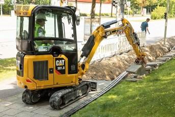 Caterpillar bringt eine neue Generation von Minibaggern in der Ein- bis Zwei-Tonnen-Klasse heraus. Hier der Minibagger Cat 301.8. Foto: Auto-Medienportal.Net/Caterpillar/Zeppelin